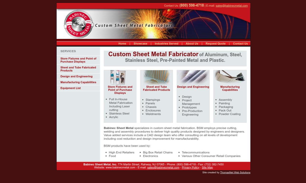 More Sheet Metal Fabrication Company Listings