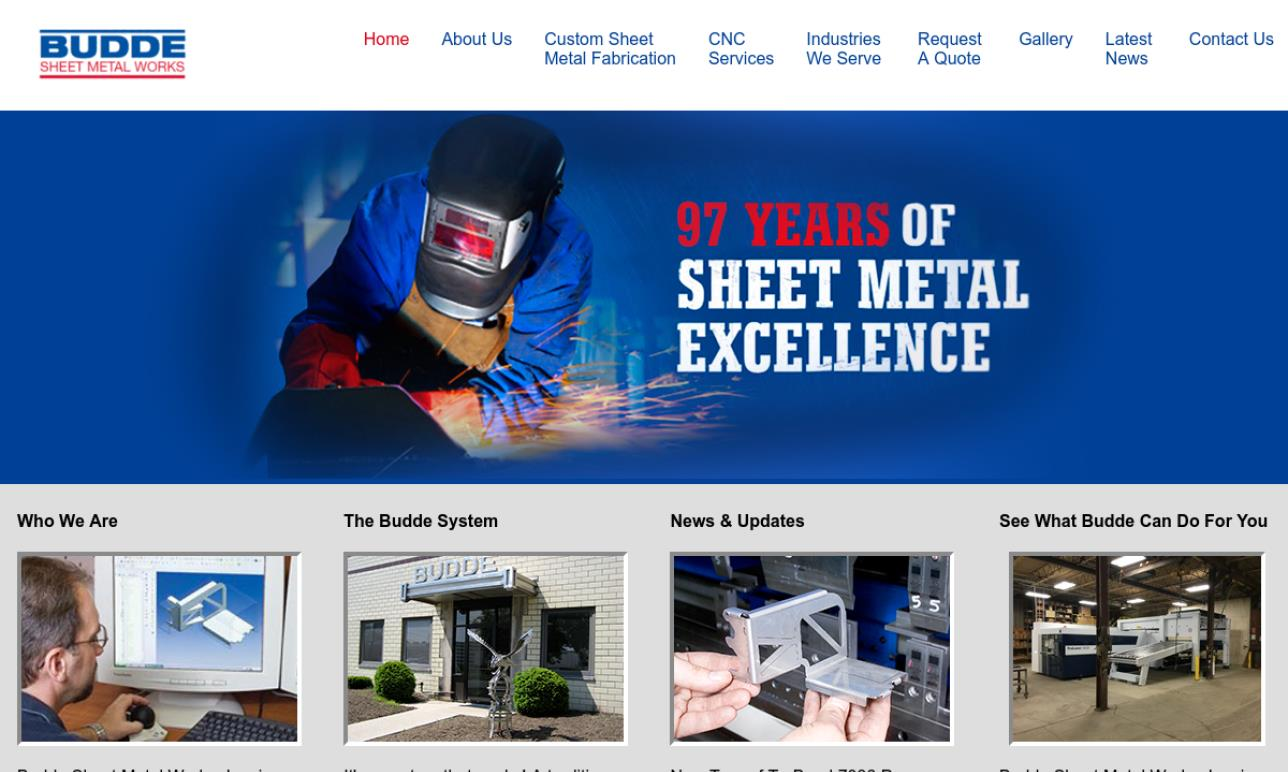 Budde Sheet Metal Works Inc Sheet Metal Fabrication