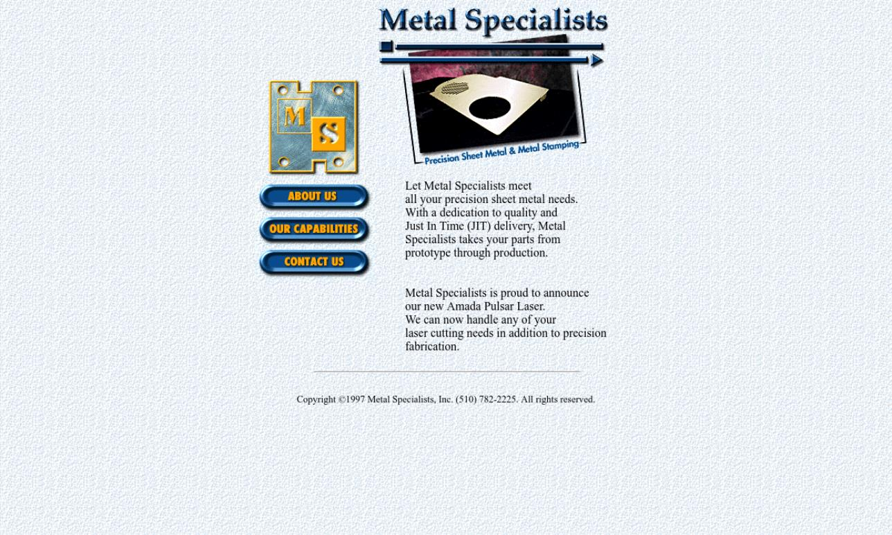 Metal Specialists, Inc